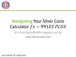Navigating  Your Silver Casio Calculator
