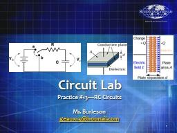 Circuit Lab Practice  # 13—RC