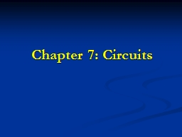 Chapter 7: Circuits Circuit Measurements PowerPoint PPT Presentation