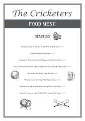 STARTERS Homemade Soup Of The Day Served With Bread  u PowerPoint PPT Presentation