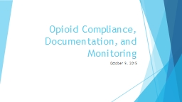 Opioid Compliance, Documentation, and Monitoring