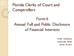 Florida Clerks of Court and