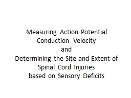 Measuring Action Potential