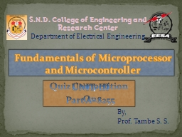 UNIT-III Part A- 8255 Fundamentals of Microprocessor and Microcontroller
