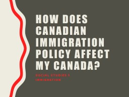How does Canadian immigration policy affect my Canada?