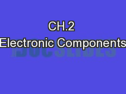 CH.2 Electronic Components