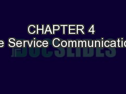 CHAPTER 4 Fire Service Communications PowerPoint PPT Presentation