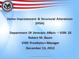 Home  Improvement & Structural Alterations (HISA