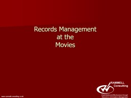 Records Management at the