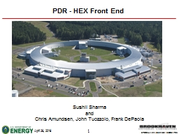 PDR - HEX Front End Sushil Sharma PowerPoint PPT Presentation