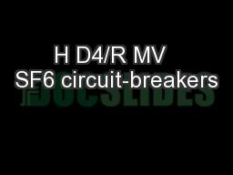 H D4/R MV  SF6 circuit-breakers