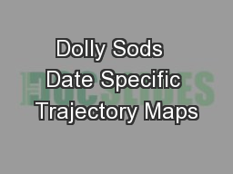 Dolly Sods  Date Specific Trajectory Maps