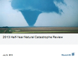 2013 Half-Year Natural Catastrophe Review