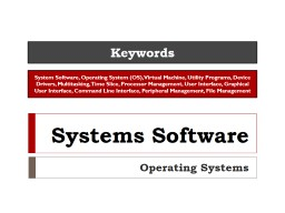 Systems Software Utilities and Backups