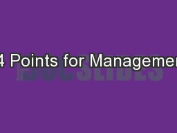 14 Points for Management
