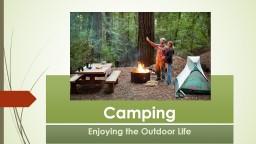 Camping Enjoyingthe Outdoor Life
