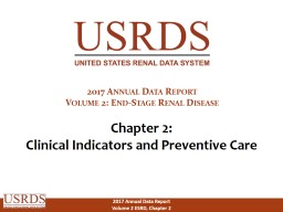 Chapter 2: Clinical Indicators and Preventive Care