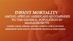 INFANT MORTALITY   AMONG AFRICAN AMERICANSAS COMPARED
