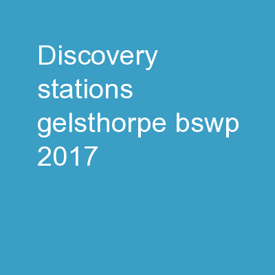 DISCOVERY STATIONS Gelsthorpe, BSWP 2017
