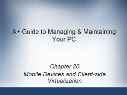 A  Guide to Managing & Maintaining Your
