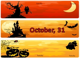 October, 31 Halloween Halloween is celebrated on the 31 of