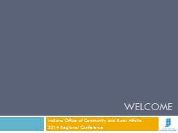 Welcome Indiana Office of Community and Rural Affairs