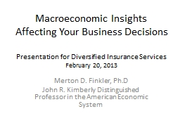 Macroeconomic Insights Affecting Your PowerPoint PPT Presentation