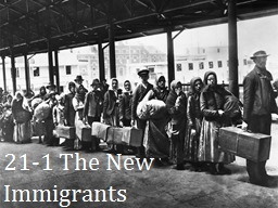 21-1  The New Immigrants PowerPoint PPT Presentation