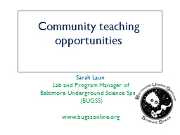 Community teaching opportunities PowerPoint PPT Presentation