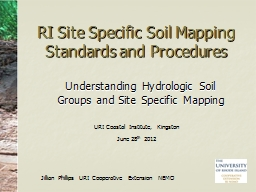 RI Site Specific Soil Mapping Standards and Procedures PowerPoint PPT Presentation