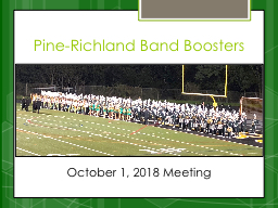 Pine- Richland Band Boosters