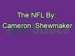 The NFL By: Cameron  Shewmaker