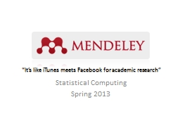 """""""It's like iTunes meets Facebook for academic research"""""""
