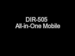 DIR-505 All-in-One Mobile