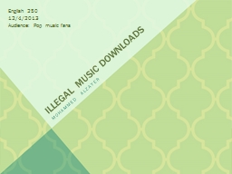 Illegal Music Downloads Mohammed