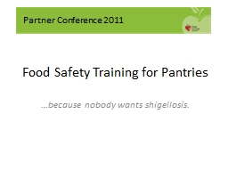Food Safety Training for Pantries