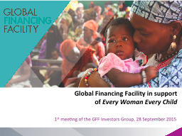 Global Financing Facility in support