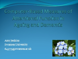 Computer-Based Measures of