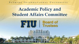 Academic Policy and  Student Affairs Committee
