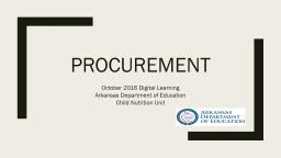 procurement October 2016 Digital Learning