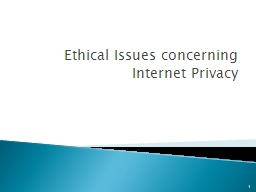 Ethical Issues concerning Internet Privacy