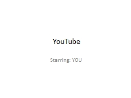 YouTube Starring: YOU Background