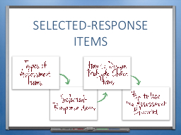 Selected-response items INTRODUCTION & OBJECTIVES
