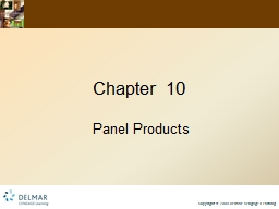 Chapter 10 Panel Products