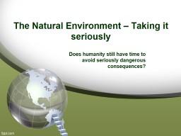 The  Natural  Environment