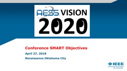 Conference SMART Objectives PowerPoint PPT Presentation
