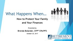 What Happens When… How to Protect Your PowerPoint PPT Presentation