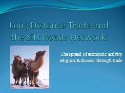 Long Distance Trade and the Silk Roads Network: