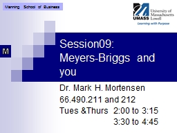 Session09: Meyers-Briggs and you PowerPoint PPT Presentation