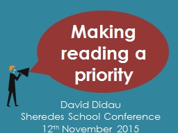 Making reading a priority PowerPoint PPT Presentation